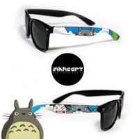 Sunglasses  Custom Hand Painted  My Neighbour by InkHeartKicks