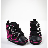 Pink Leopard Buckle Infant Hi-tops