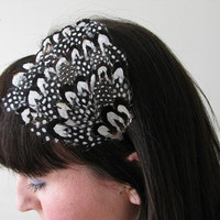 Feather Headband, Reeves and Guinea Feather Pad Headband