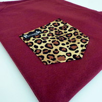 Patchwork Apparel  Leopard Pocket Tee Unisex