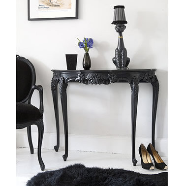 Small Sassy Boo Black Console Table|Console Tables|Tables|French Bedroom Company
