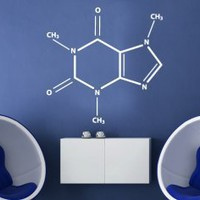 Caffeine Wall Decal - Stylish Chemical Formula for Coffee Fans - Wall Decals | My Wall Decal Shop | Decorating Ideas &amp; Wall Stickers