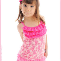 Servane Barrau Designs - Pink Lace Tank Lola