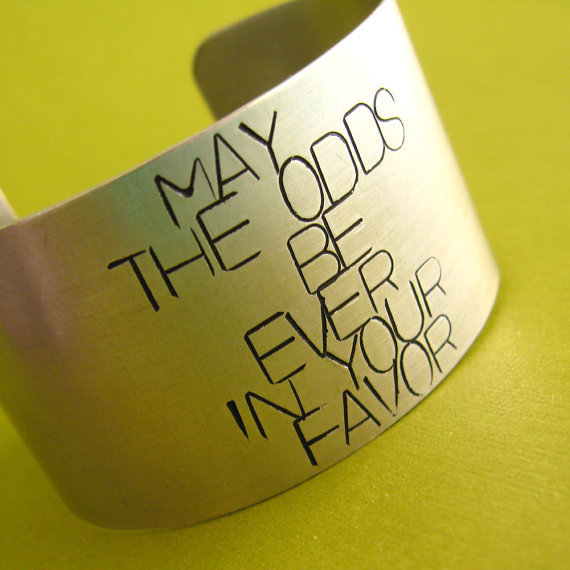 Hunger Games Bracelet May the odds be ever in your favor by SpiffingJewelry
