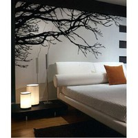 Stickerbrand Vinyl Wall Decal Sticker Tree Top Branches (M) 100&amp;quot; W X 44&amp;quot; H