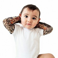 Infant Tattoo Sleeve White Onesuit
