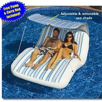 Luxury Cabana Extra Large Lounger is Ideal for the Beach, Pool, Lake and Land!