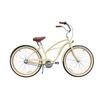 SixThreeZero Women's Scholar 3-Speed Beach Cruiser Bike, Cream, 17-Inch