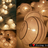 White Colour Spinroll fairy String Lights For by LoveStringLights