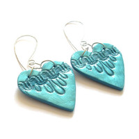 Valentine Heart earrings turquoise by JP with love by JPwithLove