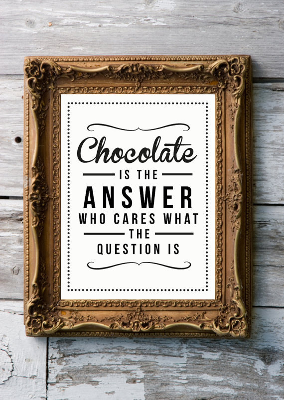 Retro Art Print 'chocolate' by RockTheCustardPrints