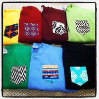 MEDIUM Custom crew cut sweatshirts with pocket by tailoredhope