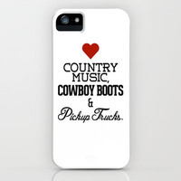 Love Country Music, Cowboy Boots & Pickup Trucks iPhone Case by RexLambo | Society6