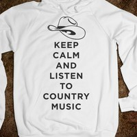 Keep Calm And Listen To Country Music (Hoodie) - Shake it for Luke Bryan