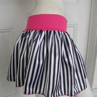Sideshow CIRCUS black n white stripe TuTu punk goth Skirt yr size