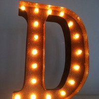 Vintage Marquee Lights Letter D by VintageMarqueeLights on Etsy