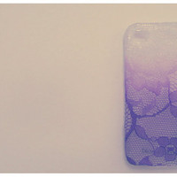 Ombre Iphone Lace Case in Purple Heart