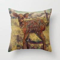 Nyala Throw Pillow by Ben Geiger
