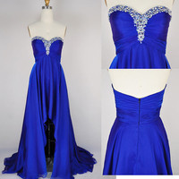 Asymmetric Sweetheart Chiffon Prom Dress/Homecoming Dress