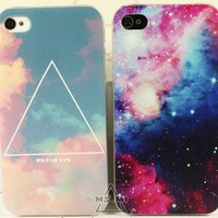 Triangle Cloud Sky/Stars Sky Case for iPhone 5
