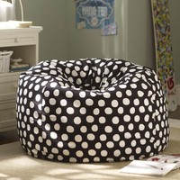 Black Painted Dot Beanbag