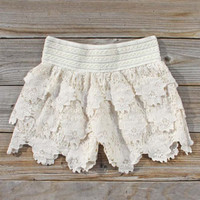 Bohemian Lace Shorts, Women&#x27;s Sweet Bohemian Clothing