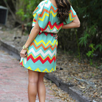 For The Love Of Chevron Dress: Multi | Hope's