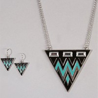 Tribal Print Necklace Set