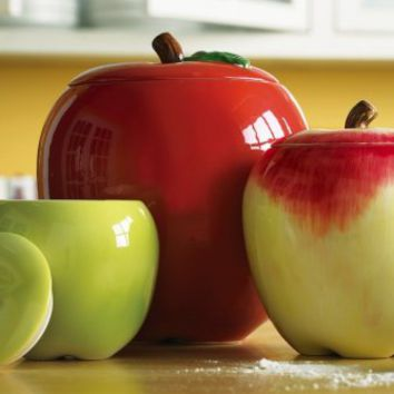 apple decor kitchen canisters from okanjo