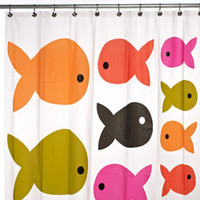 Fish Safari PEVA Shower Curtain - Bed Bath &amp; Beyond