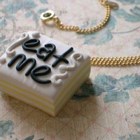 Eat me pendant by rudeandreckless on Etsy