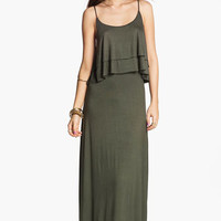 Hidden Heart Tiered Ruffle Maxi Dress (Juniors) | Nordstrom