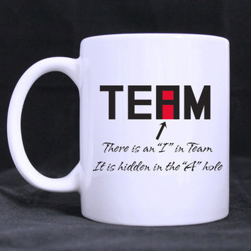 "Office humor- Funny ""I"" in Team Mug"