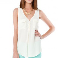 Kina Tank in Cream - ShopSosie.com