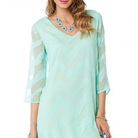 Avasa Dress in Mint - ShopSosie.com