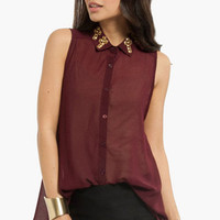 Cross My Collar Tank Shirt $29