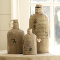 Burlap Covered Demijohn