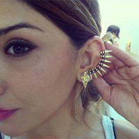 Spiked Cuff Earrings