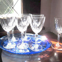 Crystal Wine Glasses Austria Cristal De Flandre by jarmfarm
