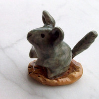 Chinchilla Handmade Ceramic Figurine by FlowerandPearlStudio