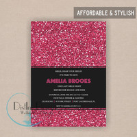 Sparkle Bridal Shower or Bachelorette Party Invitation - Digital File CUSTOMIZE the WORDING
