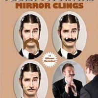 Mustache Mirror Clings
