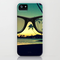 Sunset through my ray bans iPhone Case by Samantha Ranlet | Society6