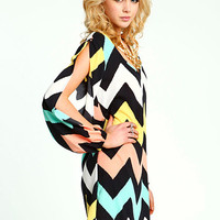 Coldshoulder Chevron Dress