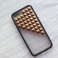 Studded iPhone 5 Case,Iphone 5 case, Antique Bronze Pyramid Studs black  Frosted Translucent iPhone case,Studded Cases