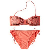 Target : Xhilaration® Juniors 2-Piece Bikini Swimsuit with Embellishment - Orange : Image Zoom