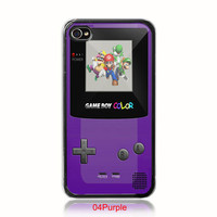 Retro Nintendo purple gameboy Super Mario Brothers iphone 4 4s case