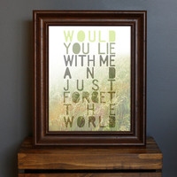 Romantic Typography Art Print Just Forget The by CisforColor