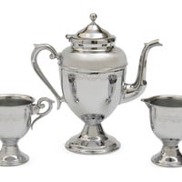 One Kings Lane - Seahouse Design - 1960s Chrome Coffee Set, 3 Pcs.