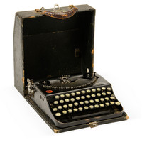 One Kings Lane - Seahouse Design - Small Remington Black Typewriter